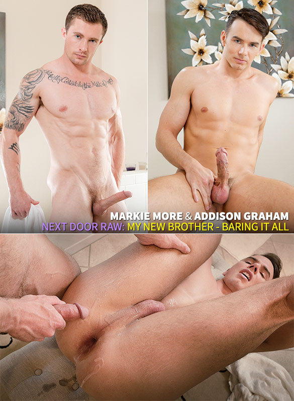 "Next Door Raw: Markie More barebacks Addison Graham in ""My New Brother: Baring It All"""