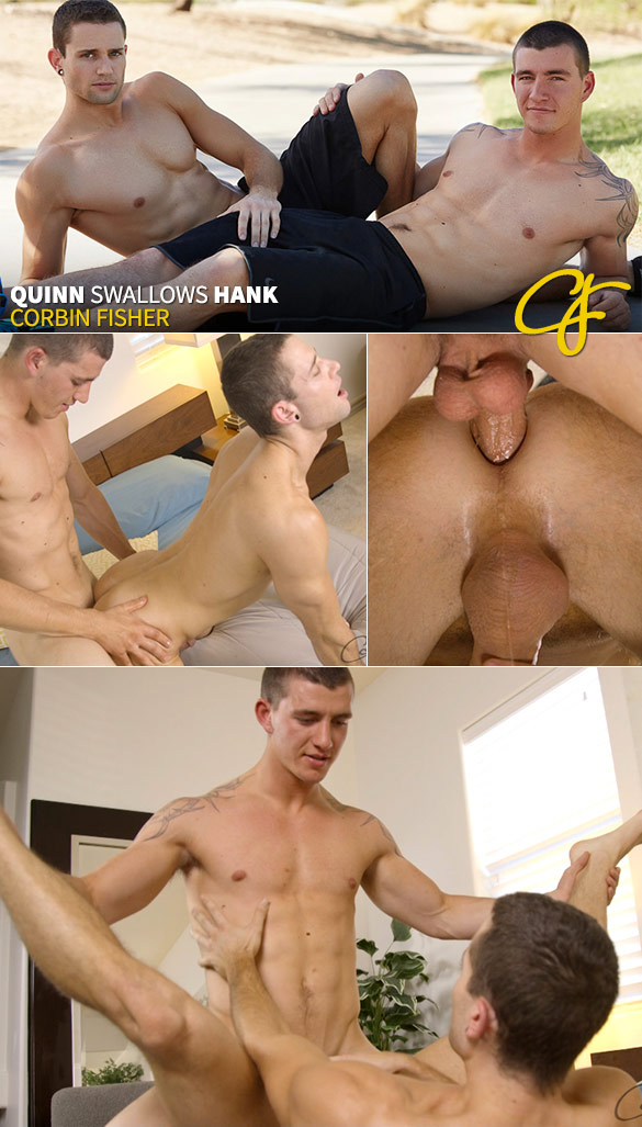 Corbin Fisher: Hank bangs Quinn raw
