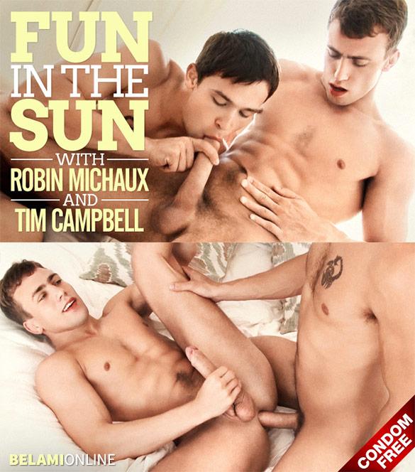 BelAmi: Tim Campbell fucks Robin Michaux bareback