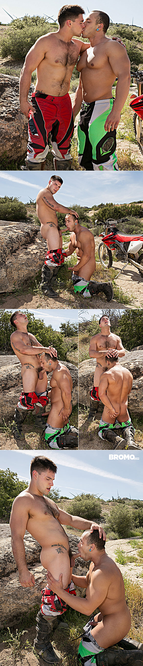"""Bromo: Leon Lewis gets pounded raw by Aspen in """"Dirty Rider, Part 2"""""""