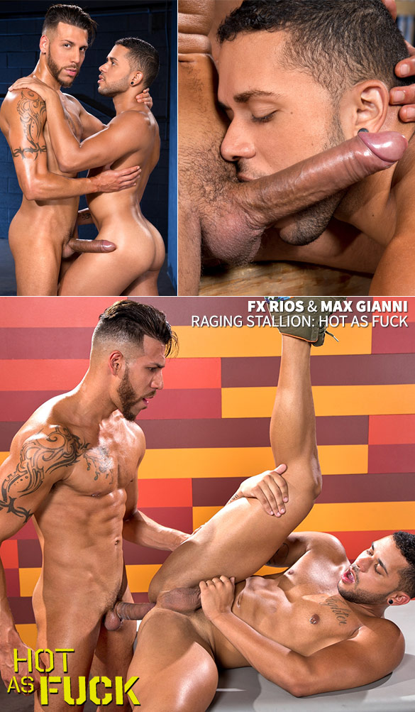 "Raging Stallion: Max Gianni takes FX Rios' 9-inch cock in ""Hot as Fuck"""