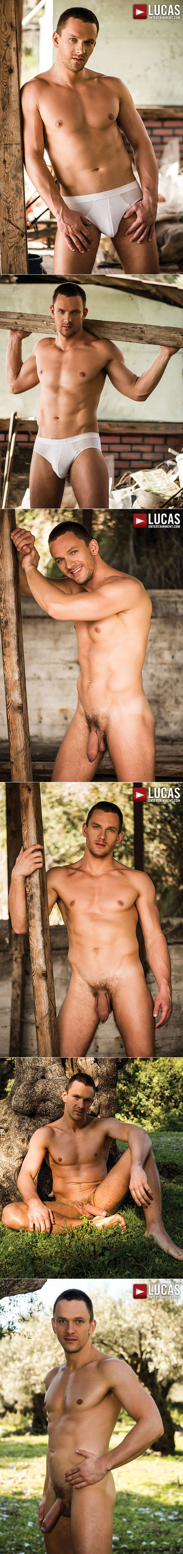 "Lucas Entertainment: Damon Heart, Andrey Vic and Zander Craze fuck each in ""Bareback Auditions 04: Raw Recruits"""