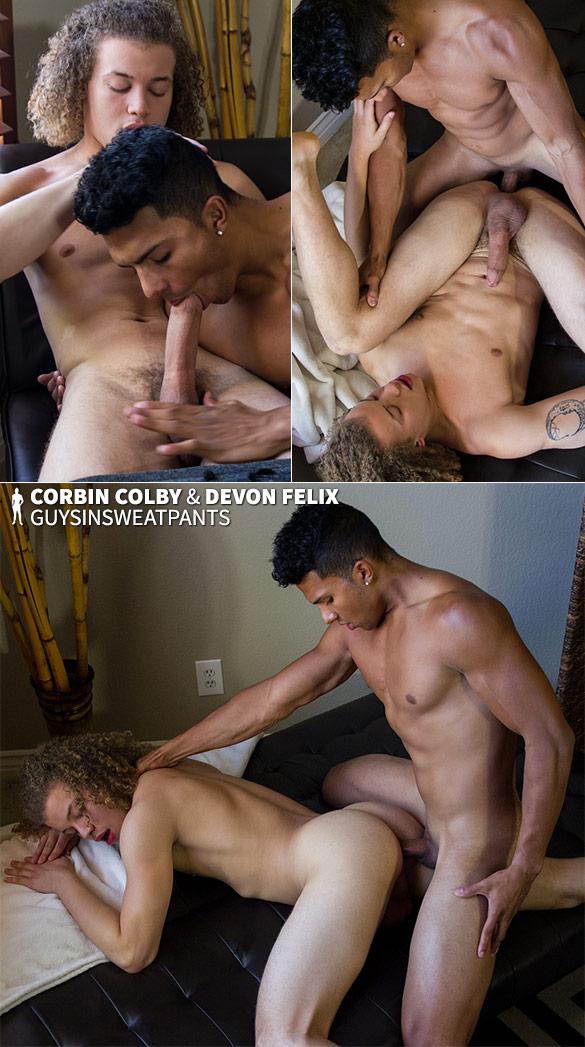 GuysInSweatpants: Devon Felix creams Corbin Colby's hole