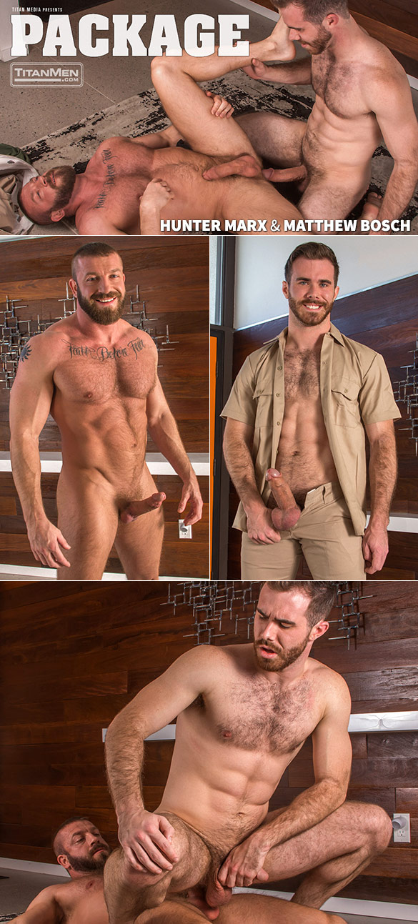 "TitanMen: Hunter Marx and Matthew Bosch pound each other in ""Package"""