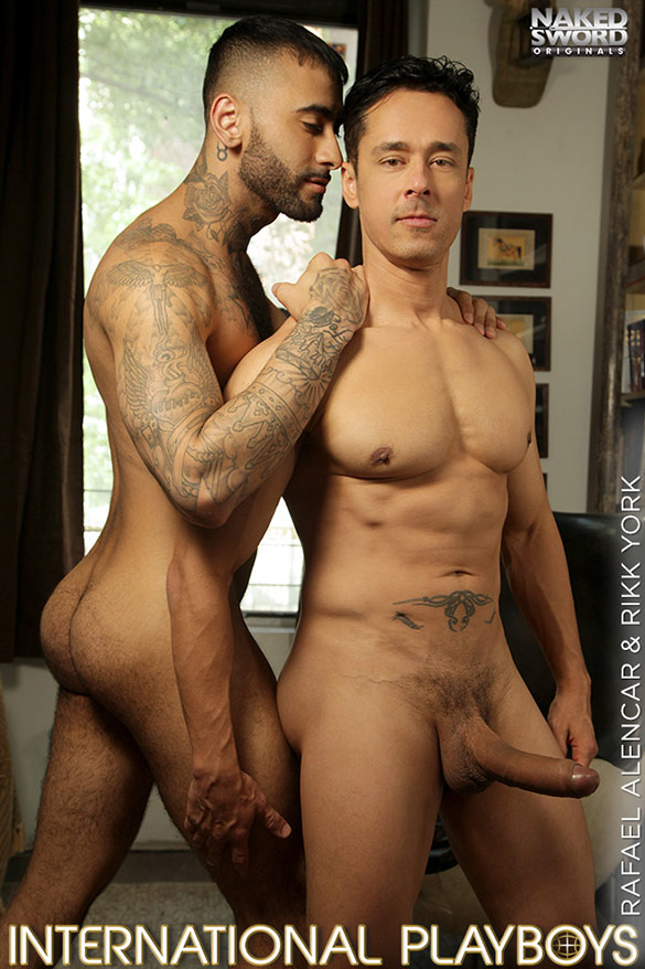"NakedSword Originals: Rikk York takes Rafael Alencar's monster cock in ""International Playboys, Episode 3: In a New York Minute"""