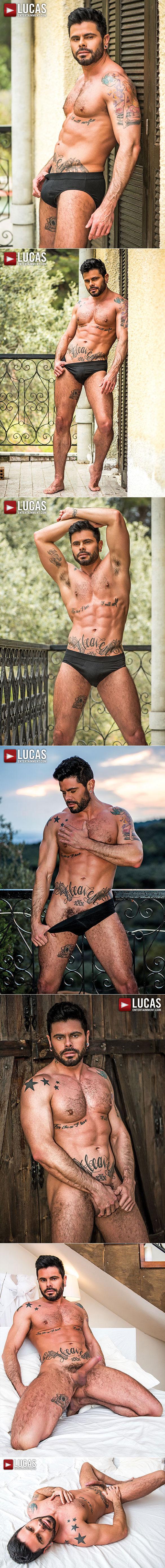 "Lucas Entertainment: James Castle, Adam Killian and Mario Domenech bareback threeway in ""Greece My Hole Raw"""