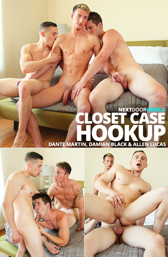 "Next Door Studios: Dante Martin, Damian Black and Allen Lucas' threesome in ""Closet Case Hookup"""