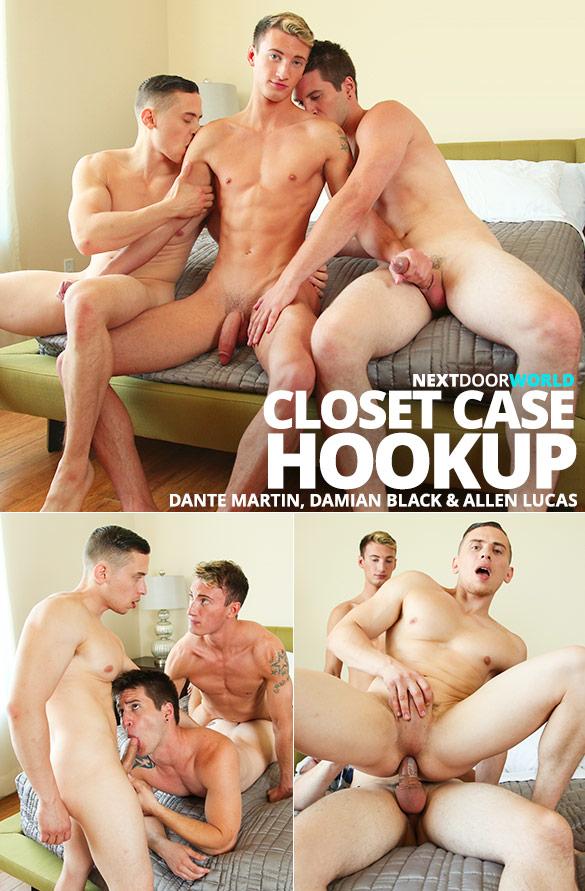 """Next Door Studios: Dante Martin, Damian Black and Allen Lucas' threesome in """"Closet Case Hookup"""""""