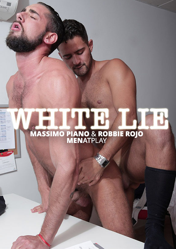 "MenAtPlay: Robbie Rojo and Massimo Piano flip fuck in ""White Lie"""