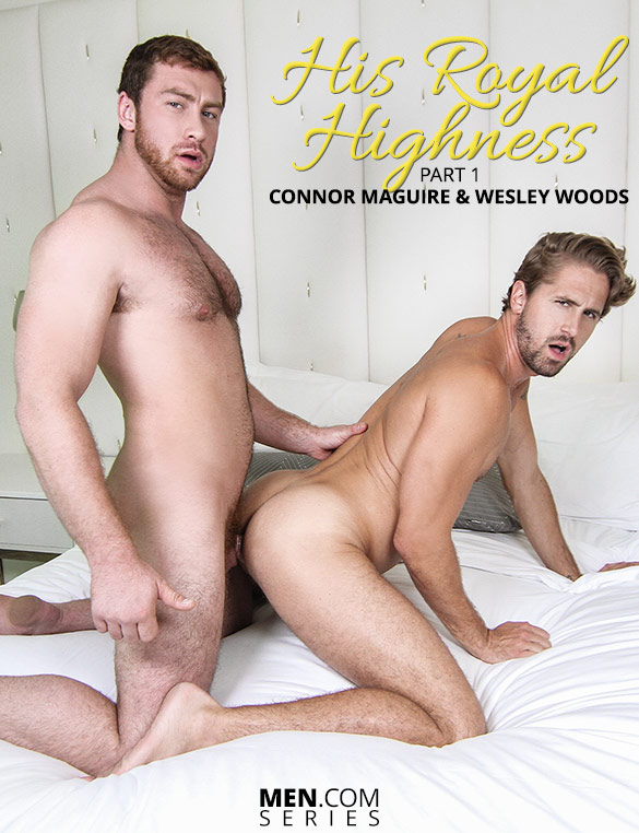 "Men.com: Connor Maguire bangs Wesley Woods in ""His Royal Highness, Part 1"""