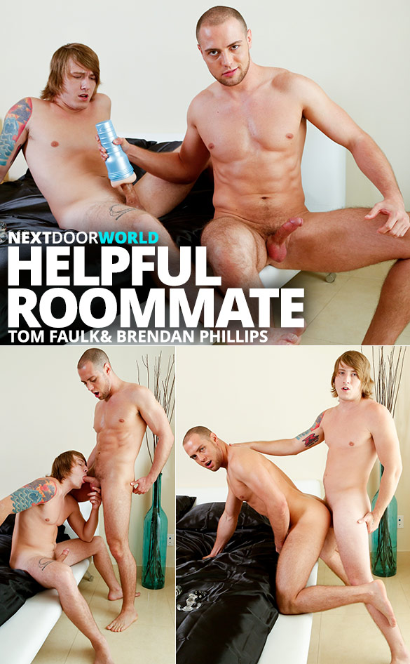 "Next Door World: Tom Faulk fucks Brendan Phillips in ""Helpful Roommate"""