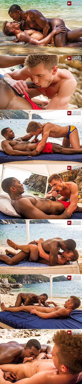 "Lucas Entertainment: Sean Xavier pounds Bogdan Gromov bareback in ""Cock Huntr"""
