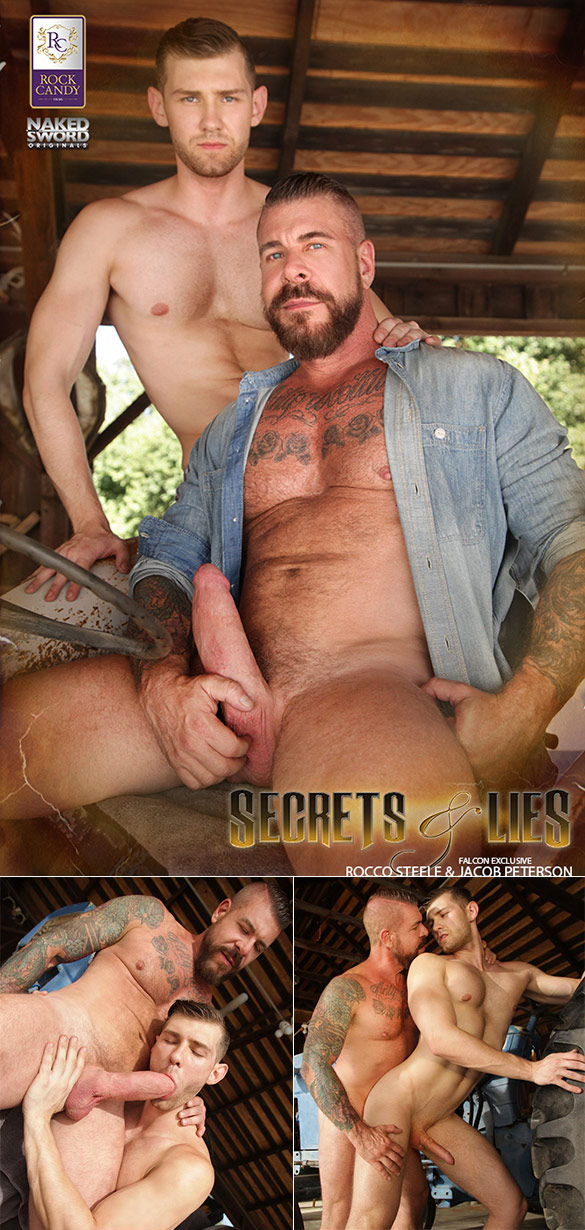 """NakedSword: Jacob Peterson gets fucked by big-dicked Rocco Steele in """"Secrets and Lies: Scene 4 – Forgive Me Father"""""""