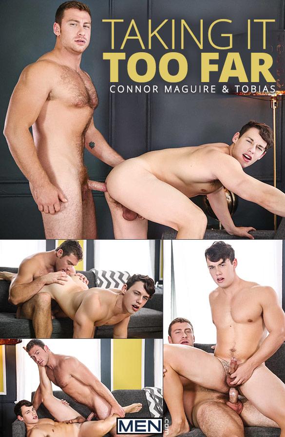 """Men.com: Tobias rides Connor Maguire in """"Taking It Too Far"""""""