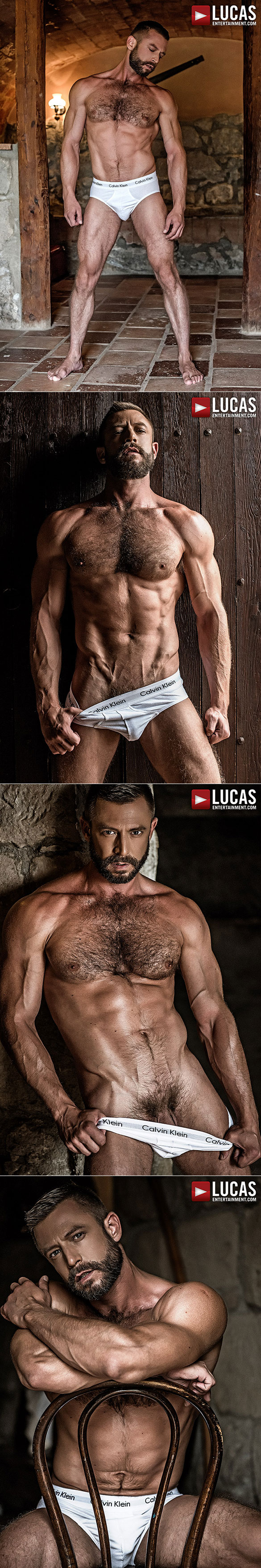 """Lucas Entertainment: Muscle daddy Bulrog tops Devin Franco in """"Bareback Auditions 05"""""""