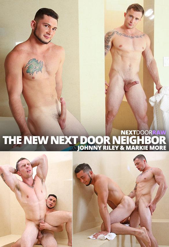 """Next Door Raw: Markie More and Johnny Riley flip fuck bareback in """"The Next Door Neighbor, Part 2"""""""