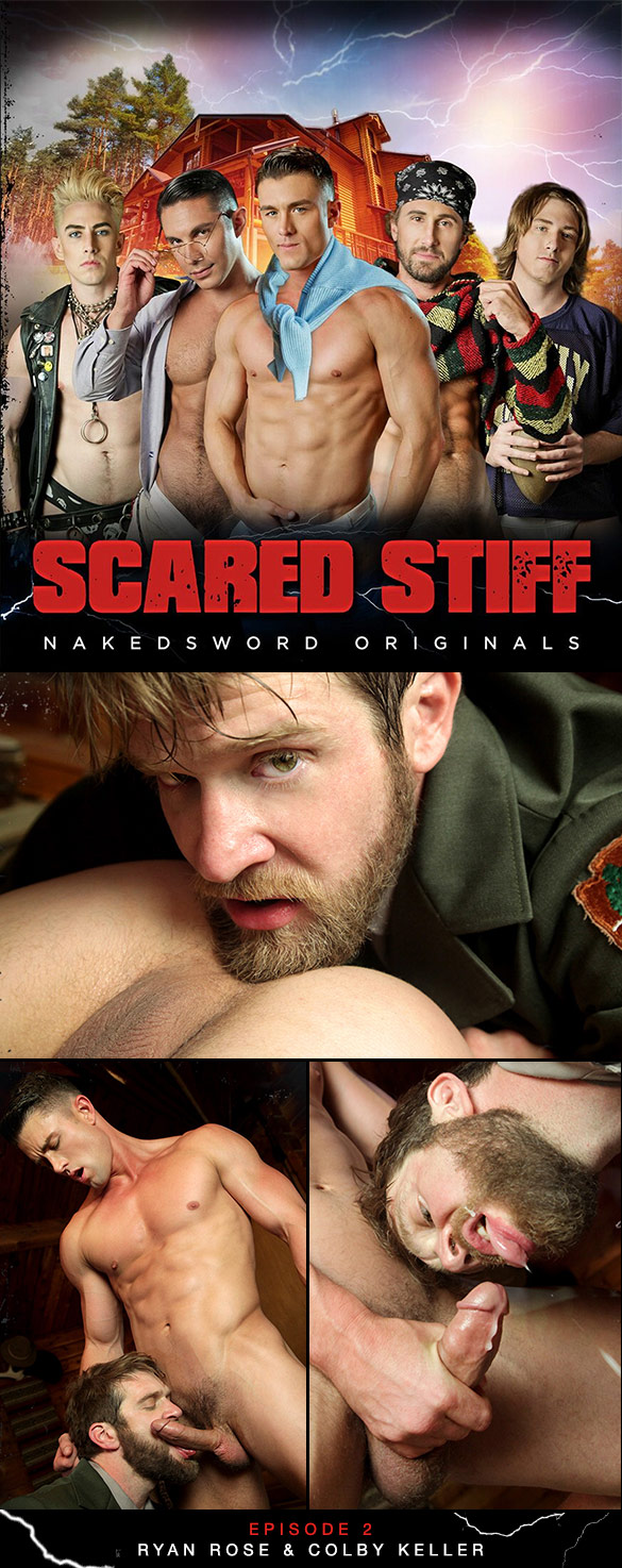 "NakedSword: Colby Keller and Ryan Rose suck each other off in ""Scared Stiff: Episode 2 – Yes Sir, Ranger Steve"""
