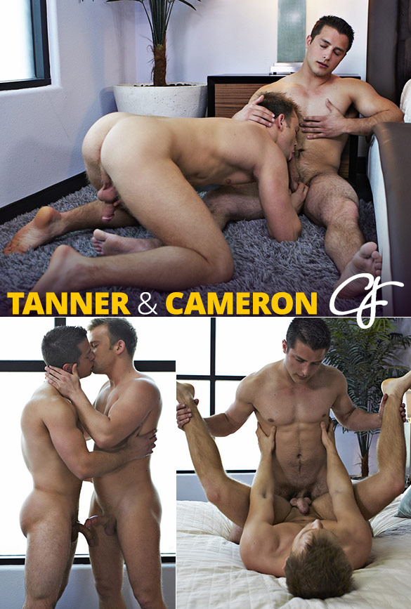 Corbin Fisher: Tanner cums in Cameron