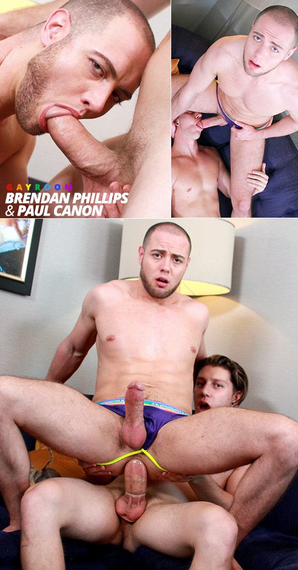 "GayRoom: Brendan Phillips rides Paul Canon in ""Ripped Muscle Hunks"""
