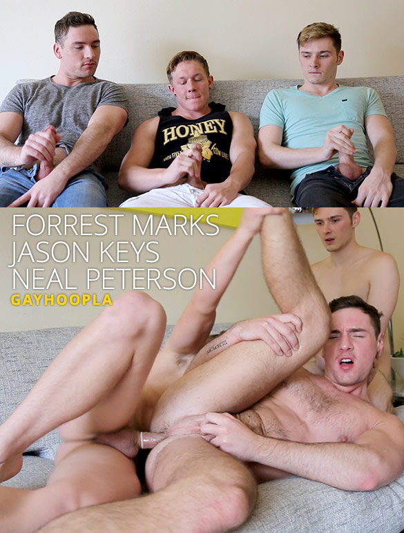 GayHoopla: Forrest Marks and Neal Peterson bottom for Jason Keys