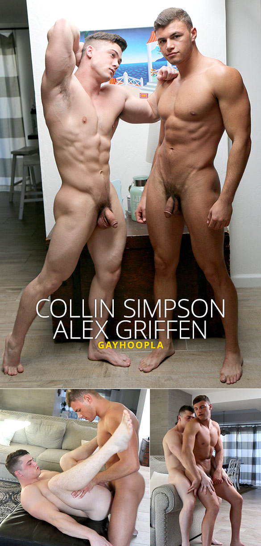 GayHoopla: Collin Simpson and Alex Griffen flip fuck