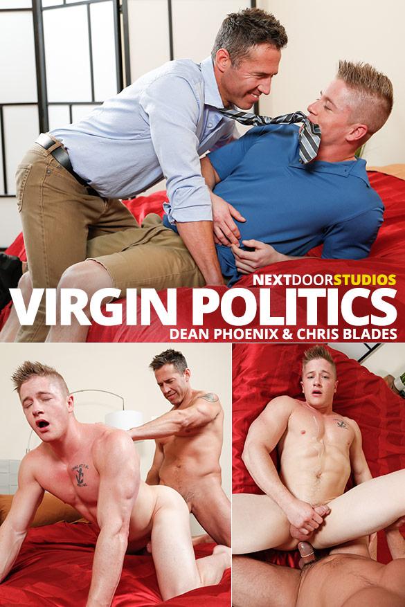 """Next Door Studios: Dean Phoenix fucks Chris Blades in """"Virgin Politics"""""""