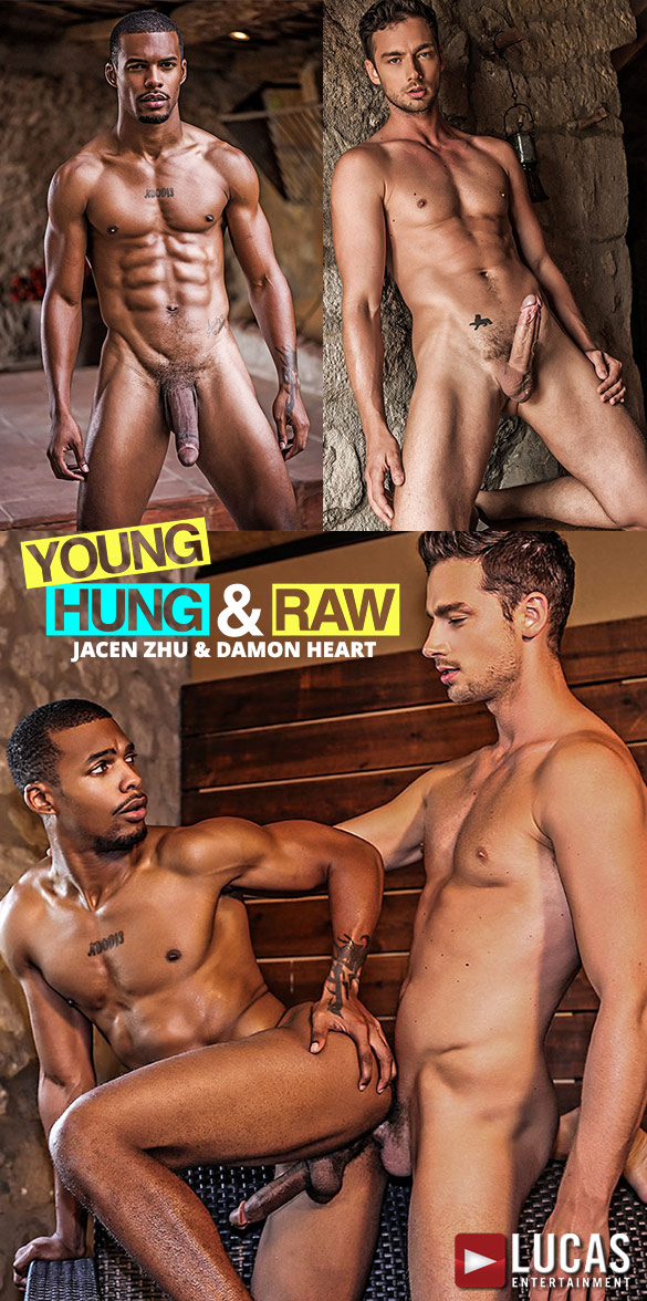 "Lucas Entertainment: Damon Heart bangs Jacen Zhu in ""Young, Hung & Raw"""