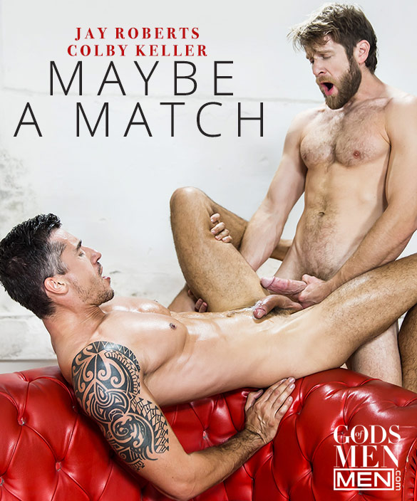 "Men.com: Colby Keller and Jay Roberts flip fuck in ""Maybe a Match"""