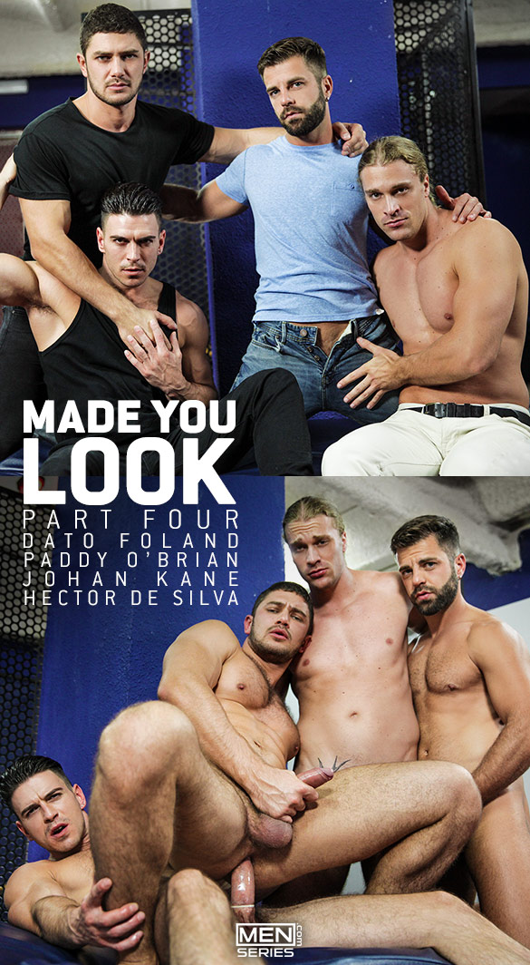 "Men.com: Dato Foland, Hector de Silva, Johan Kane and Paddy O'Brian in ""Made You Look, Part 4"""