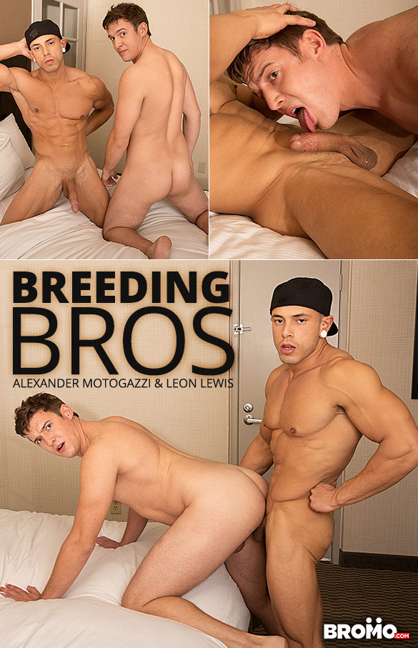 "Bromo: Leon Lewis pounds Alexander Motogazzi raw in ""Breeding Bros"""