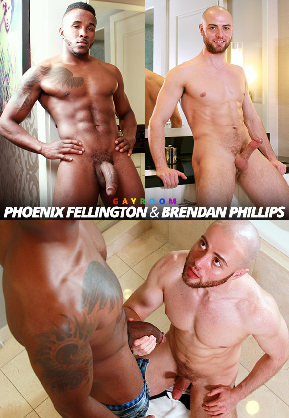 "GayRoom: Brendan Phillips and Phoenix Fellington suck each other off in ""Blowing Kisses"""