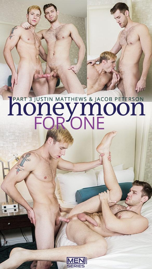 "Men.com: Justin Matthews fucks Jacob Peterson in ""Honeymoon for One, Part 3"""