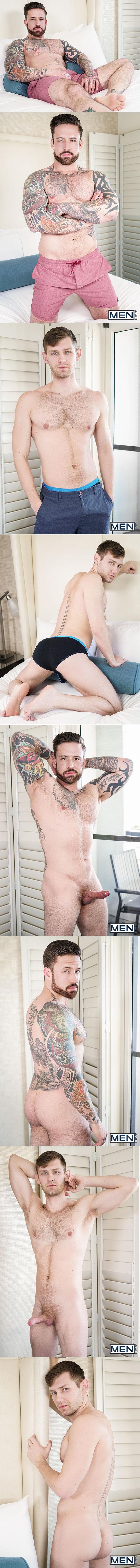 "Men.com: Jacob Peterson rides Jordan Levine in ""Honeymoon for One, Part 1"""