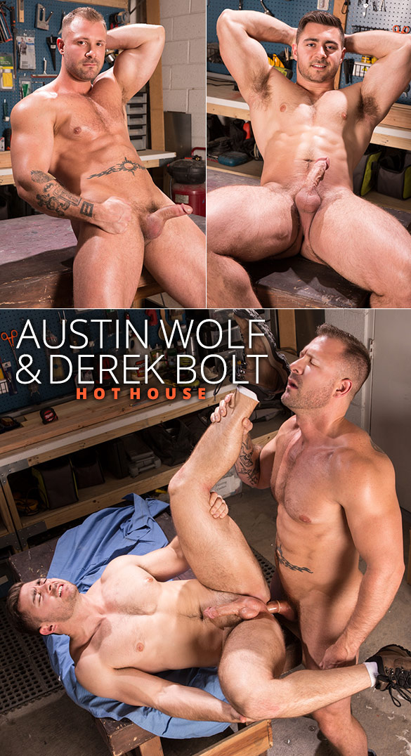 "HotHouse: Austin Wolf fucks Derek Bolt in ""Dirty Work"""