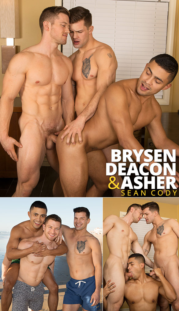 Sean Cody: Brysen, Deacon & Asher's raw spring break threeway