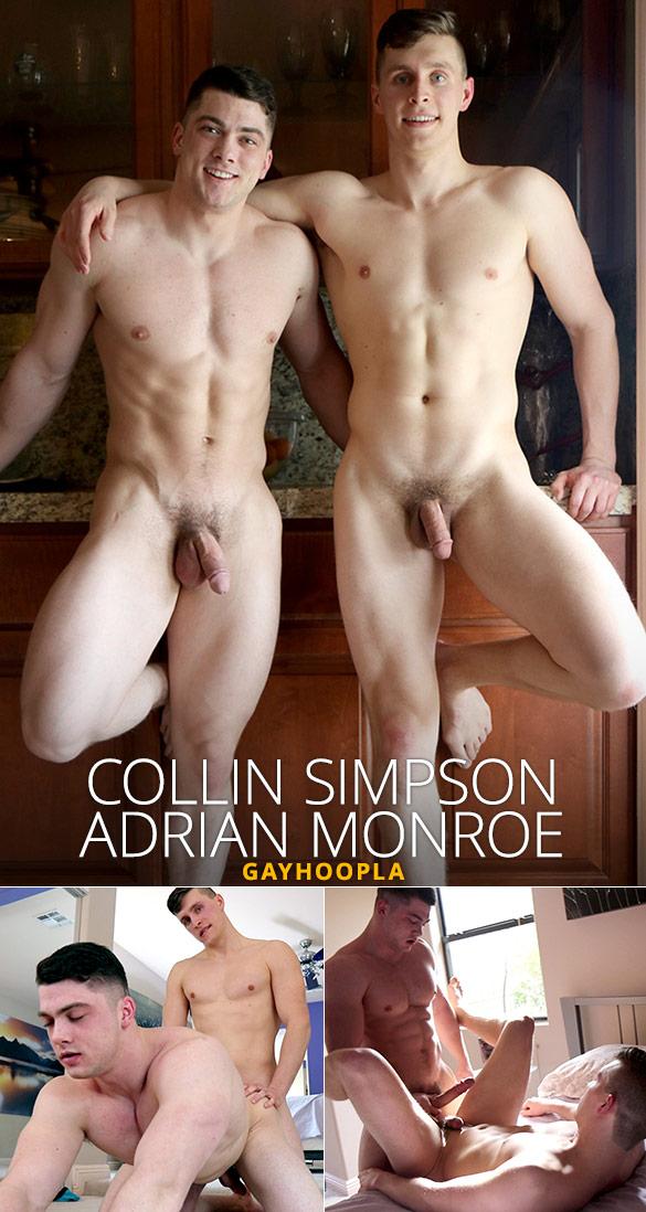 GayHoopla: Collin Simpson and Adrian Monroe's hot flip-fuck