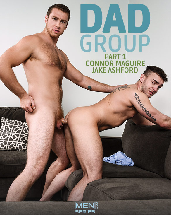 "Men.com: Connor Maguire fucks Jake Ashford in ""Dad Group, Part 1"""
