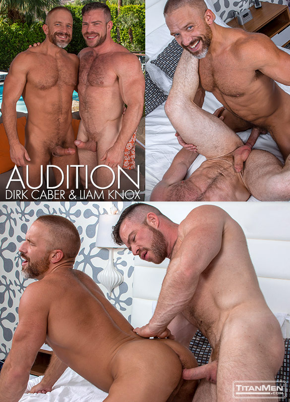 """TitanMen: Liam Knox and Dirk Caber flip fuck in """"Audition"""""""
