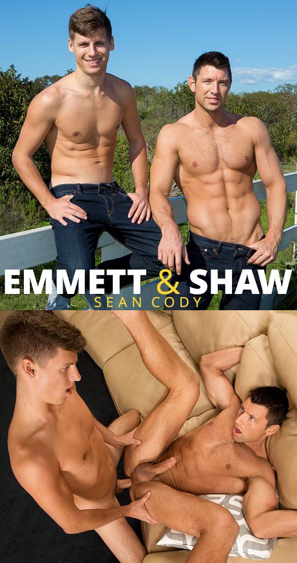 Sean Cody: Newcomer Emmett fucks Shaw bareback