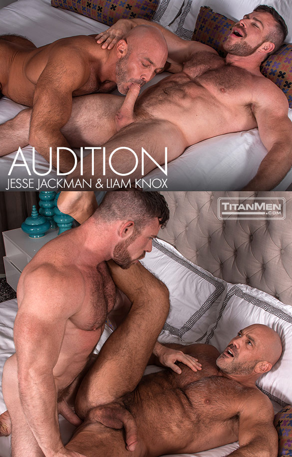 """TitanMen: Liam Knox and Jesse Jackman flip fuck in """"Audition"""""""