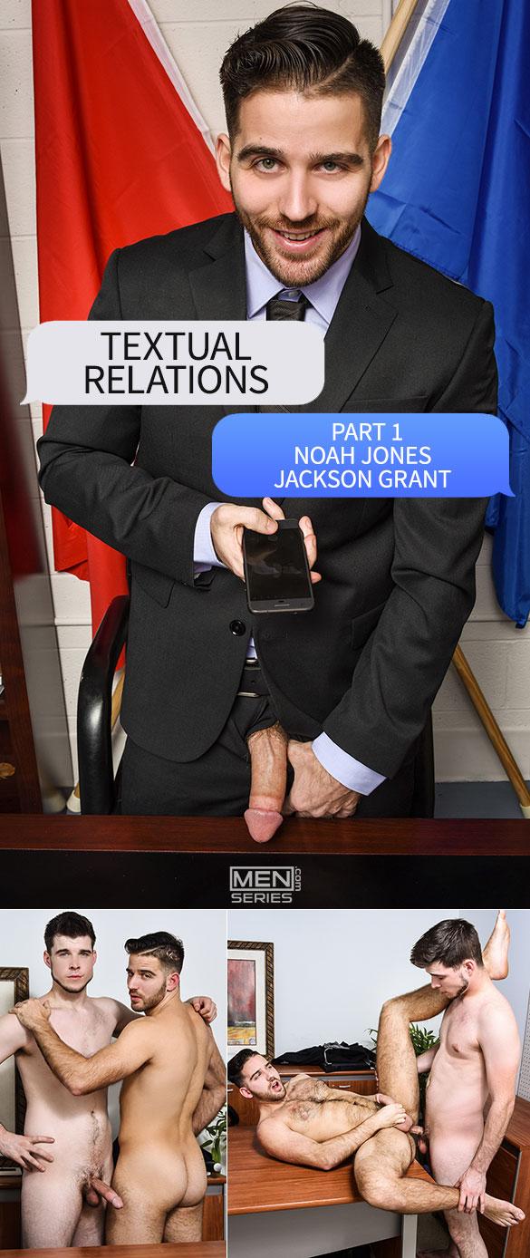 """Men.com: Noah Jones fucks Jackson Grant in """"Textual Relations, Part 1"""""""