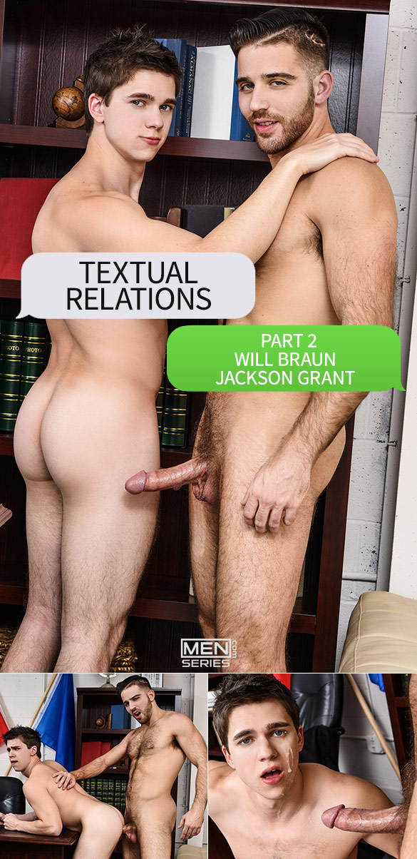 "Men.com: Jackson Grant tops Will Braun in ""Textual Relations, Part 2"""