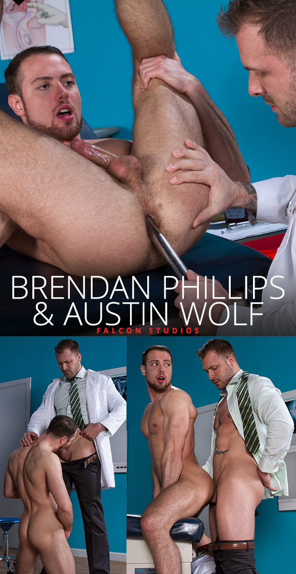Falcon Studios: Brendan Phillips gets probed by Austin Wolf