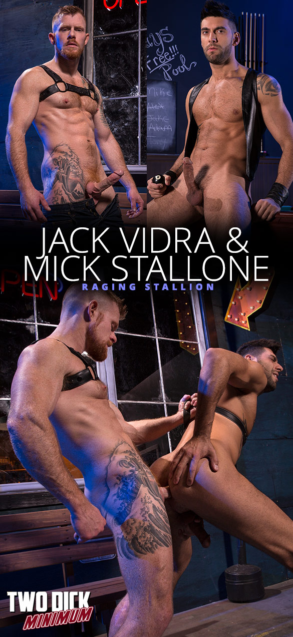 """Raging Stallion: Michael Roman pounds Jack Andy in """"Two Dick Minimum"""""""