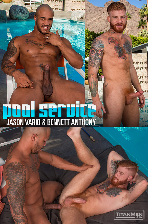 "TitanMen: Jason Vario fucks Bennett Anthony in ""Pool Service"""