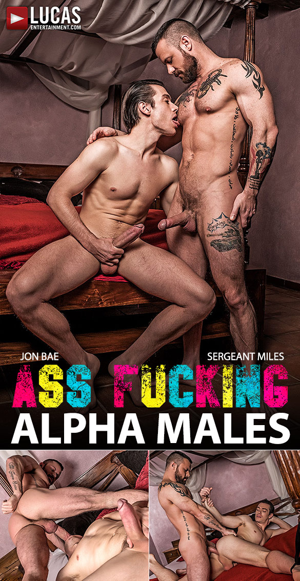 "Lucas Entertainment: Sergeant Miles fucks Jon Bae hard and raw in ""Ass-Fucking Alpha Males"""