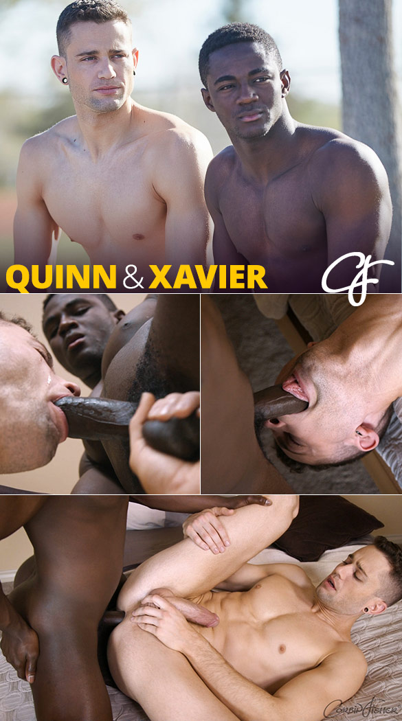 Corbin Fisher: Xavier fucks Quinn bareback