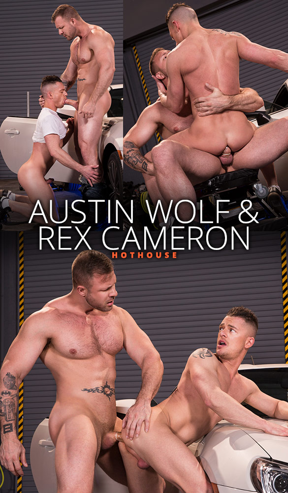 """HotHouse: Austin Wolf bangs Rex Cameron in """"Overpowered"""""""