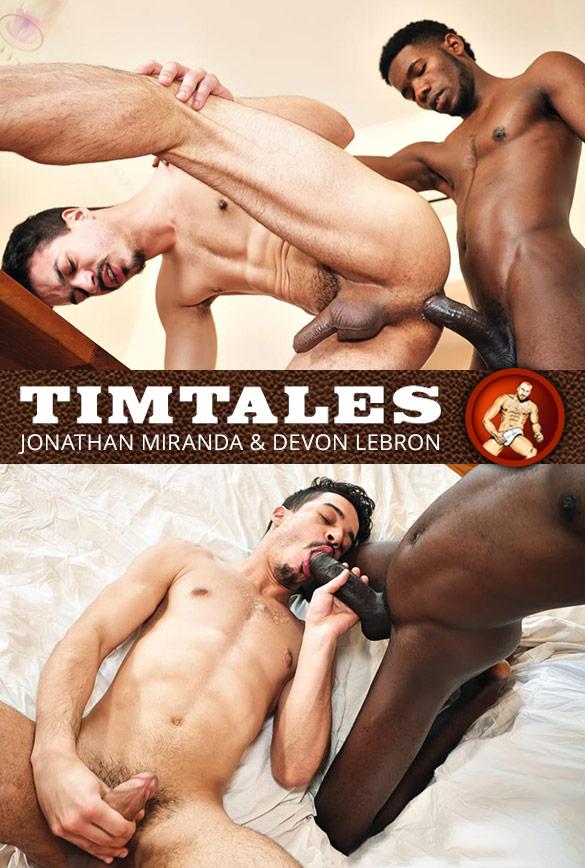 TimTales: Jonathan Miranda takes Devon Lebron's 10-inch cock bareback