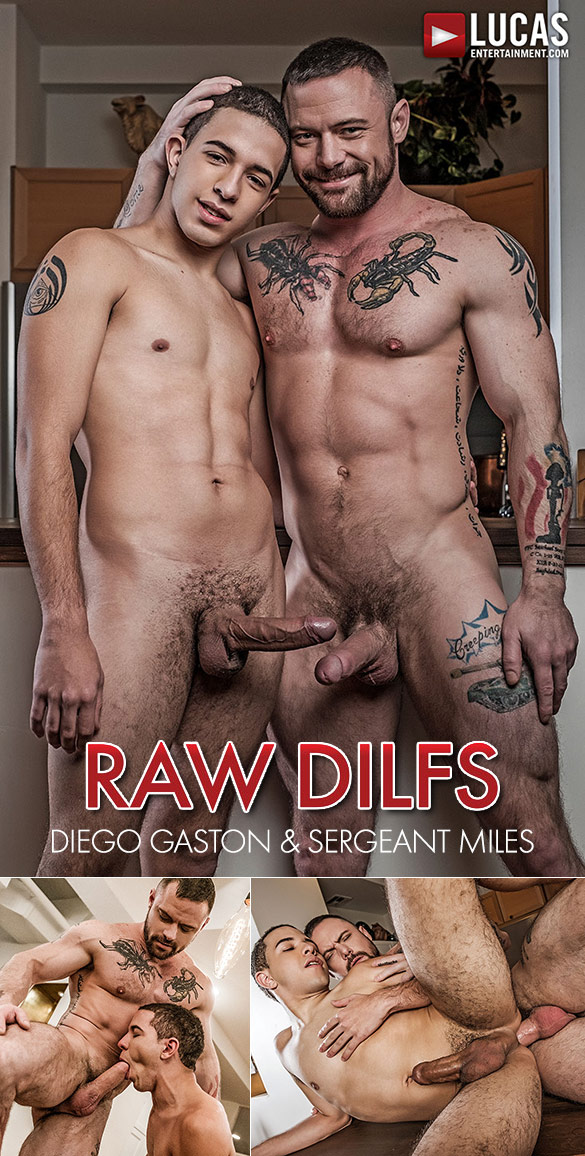 "Lucas Entertainment: Sergeant Miles fucks Diego Gaston's tight ass in ""Raw DILFs"""